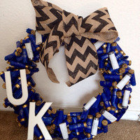 Kentucky Wildcats Shotgun Shell Wreath