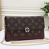 Louis Vuitton LV Woman Men Fashion Leather Chain Crossbody Satchel Shoulder Bag