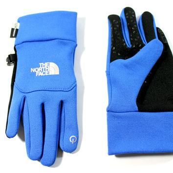 The North Face Youth's Etip Nautical Blue Stretch Gloves