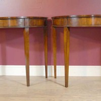 Canonbury - Pair English Regency Inlay Console Tables Table