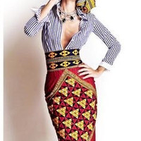 African pencil skirt// African skirt, ankara skirt, fitted skirt