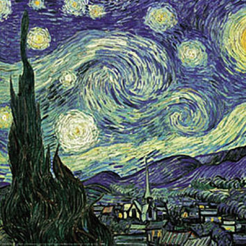 Starry Night Poster by Van Gogh