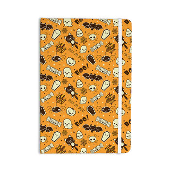 "KESS Original ""All Cute Halloween"" Orange Pattern Everything Notebook"