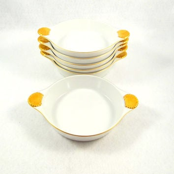 Georges Briard Coquille D'Or Set of Six au Gratin Dishes from 1960s