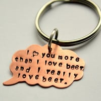 Funny Valentine Men I love You More Than Beer by whiteliliedesigns
