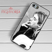 Smoking Kurt Cobain - zd for  iPhone 4/4S/5/5S/5C/6/6+s,Samsung S3/S4/S5/S6 Regular/S6 Edge,Samsung Note 3/4