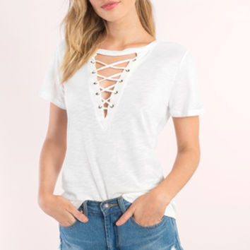 Camry Lace Up Tee
