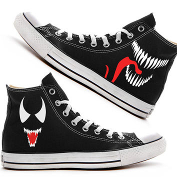 Venom Custom Converse / Painted Shoes