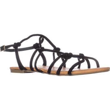 Report Gail Flat Knot Sandals, Black, 7.5 US