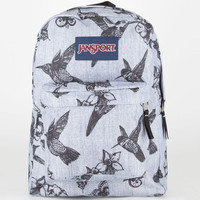 Jansport Superbreak Backpack Grey/Black Botanical One Size For Men 20541197501