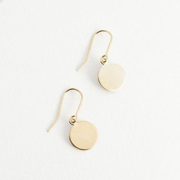 Gold Plate Hook Earrings 14K