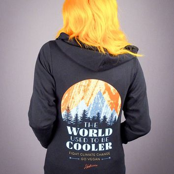 The Herbivore Clothing Co. - The World Used To Be Cooler Zip-Up Hoodie