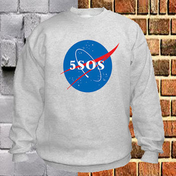 5SOS Nasa sweater Sweatshirt Crewneck Men or Women Unisex Size