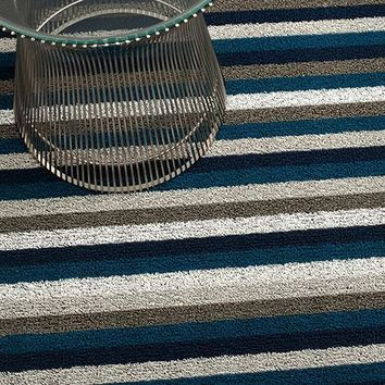 Even Stripe Indoor/Outdoor Mat | Marine