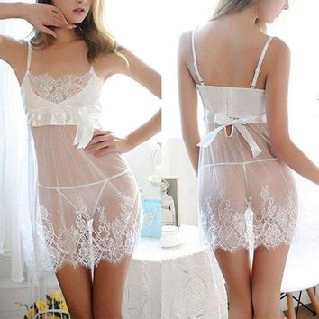 US Womens Lace Sexy Underwear Nightwear Babydoll Sleepwear Fun Lingerie G-string
