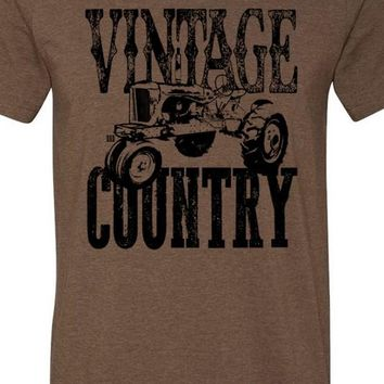 Vintage Country Tractor Tee Crew