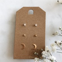 Crescent Moon Earring Pack