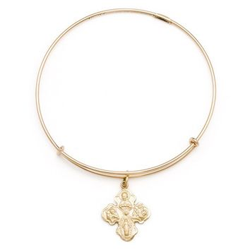Alex and Ani Four-Way Cross Charm Bangle - 14kt Gold Filled