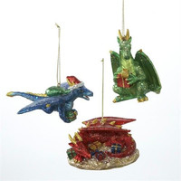 12 Christmas Ornaments - Dragons