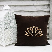 Lotus Flower Pillow Covers Om Sign Yoga Pillowcase Decorative Pillow Cover Home Decor Throw Pillows Yoga Studio Bedroom Decor Gift V18