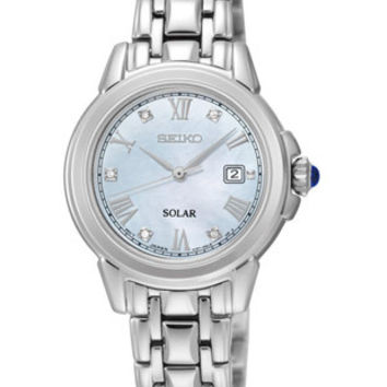 Seiko Ladies Le Grand Solar Sport - Mother of Pearl - 5 Diamonds - Stainless