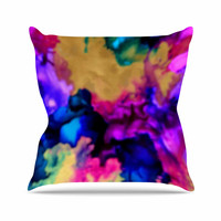 "Claire Day ""Lovely"" Pink Blue Throw Pillow"