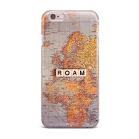 "Sylvia Cook ""Roam Map"" World iPhone Case"
