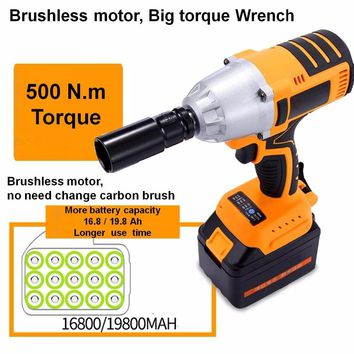 Battery-Powered Brushless motor  Electric cordless Socket wrench