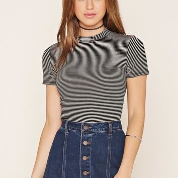 Shimmery Striped Top