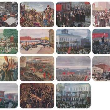 Rallies and Demonstrations. Collection / Set of 15 Vintage Prints, Postcards -- 1960s-1980s