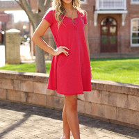 Z Supply - THE TEMPO DRESS Red