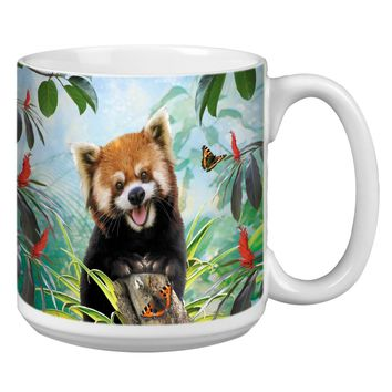 Red Panda Selfie Jumbo Mug - Premium 20 oz Ceramic Coffee Tea  & Soup Mug