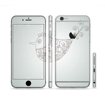 The Simple Vintage Bird on a String Sectioned Skin Series for the Apple iPhone 6