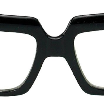Glasses 80's Scratcher Blk Clrcle for Men and Women for Halloween