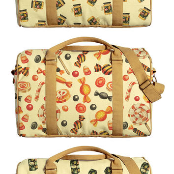 Sweet Design Printed Oversized Canvas Duffle Luggage Travel Bag WAS_42