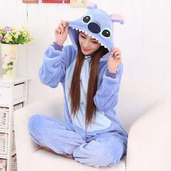 Lovely Winter Couple Cartoons Animal Sleepwear Halloween Costume [9221221380]