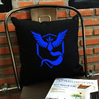 Mystic Pillow cover, Team Mystic Throw Pillow cover,Mystic team, Pokémon Décor,  cotton canvas pillow cover