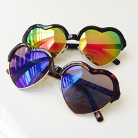 Mirrored Amor Heart Sunglasses