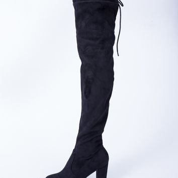 Back Tie Over-the-Knee Boots