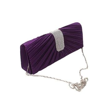Women Satin Evening Clutch Bags Ladies Day Clutches Purses
