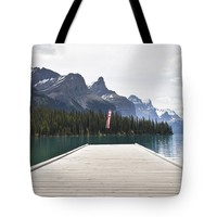 """Spirit Island Dock Tote Bag for Sale by Ivy Ho (18"""" x 18"""")"""