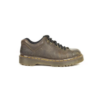 uk 5 | DR MARTENS brown oiled leather oxford shoes / Made in England / 90s grunge / chunky hiking boots / oxfords / eu 38 / womens us 7