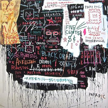 Museum Security, Giclee Print, Jean-Michel Basquiat