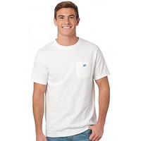 Embroidered Pocket Tee Shirt in White by Southern Tide