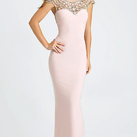 Long Illusion Sweetheart Madison James Prom Dress
