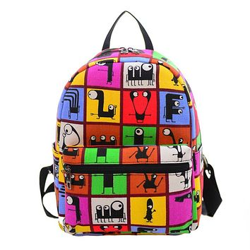 OB Canvas School Backpack/Mochilla