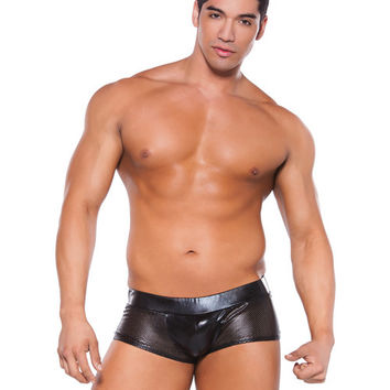 Zeus Wet Look Shorts Black O-s