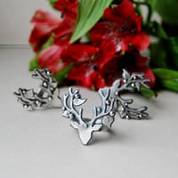 Made in YOUR SIZE - Tribe Song Ring - Metalsmithed Deer Ring