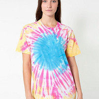 Unisex Indian Summer Tie Dye Fine Jersey Short Sleeve T-Shirt