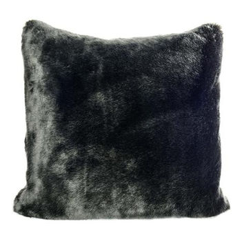 Faux Fur Pillow | Black